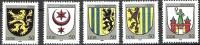 DDR 1984 MiNr.2857-2861 ** Postfr Stadtwappen ( 747 )NP - Ongebruikt