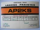 CARTE QSL CARD RADIO AMATEUR 1977 - LAHORE PAKISTAN - AP2KS - KHALID SHAKOOR - Radio Amateur