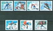 KAMPUCHEA - USED/OBLIT. - 1988 - SKI CALGARY OLYMPIC GAMES -  SC 833-839 Mi 911-917 Yv 775-781 Lot 5931 - Kampuchea