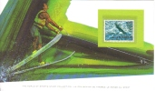 World Of Sports Display Card  -  Mint San Marino Stamp  -  WATER SKIING - Water-skiing
