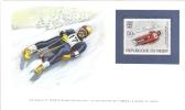 World Of Sports Display Card  -  Mint Niger Stamp  -  THE LUGE - Wintersport (Sonstige)