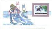 World Of Sports Display Card  -  Mint Centralafricaine Stamp  -  GIANT SLALOM - Wintersport (Sonstige)