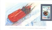 World Of Sports Display Card  -  Mint Gabon Stamp  -   BOBSLEDDING - Wintersport (Sonstige)