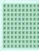 1 Franc Sur 5 Francs Vert - Lion Héraldique - N° 2050 - Full Sheets