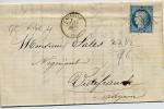 Wv 352  - Lettre De CAUSSADE (T. Et G.)  Du 25 .09. 1872  N°60 GC  786 +  Cachet Ambulant  Au Dos - 1849-1876: Klassieke Periode