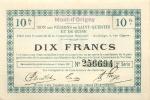 BON DES REGIONS DE SAINT QUENTIN ET DE GUISE VILLE D'ORIGNY DIX FRANCS - Bons & Nécessité