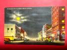 > GA - Georgia > Albany  Washington Street At Night Full Moon  Linen =  Ref 485 - Albany