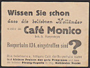 """Hamburg Reeperbahn """"beliebte Holländer"""" Im Cafe Monica Pivong Kapelle - Erinnofilie"""