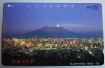 Phone Card Japan NTT Vulkan Berg Stadt Landschaft Telefonkarte . - Volcans