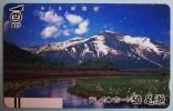 Phone Card Japan NTT Vulkan Berg Fluß Landschaft Telefonkarte . - Volcanos