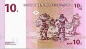 CONGO DEMOCRATIC REPUBLIC 10 CENTIMES 1997 PICK 82a UNC - Congo