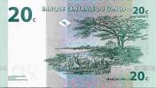 CONGO DEMOCRATIC REPUBLIC 20 CENTIMES 1997 PICK 83a UNC - Congo