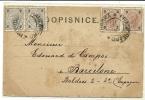 Österreich Ca. 1900 Hluboka – Frauenburg AK Nach Spanien MeF - 1850-1918 Imperium