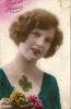 CPA BONNE ANNEE écrite Pour L'année 1923 - Une Belle Jeune Fille  080412 - Nieuwjaar