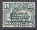 DENMARK 1947 Centenary Of Danish Railways. - Train Green - 15ore FU - Used Stamps