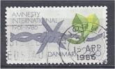 DENMARK 1986 25th Anniv Of Amnesty International - Barbed Wire & Leaf FU - Usado