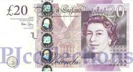 GREAT BRITAIN 20 POUNDS 2007 PICK 392 UNC - 1952-… : Elizabeth II