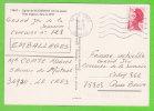 Sur CP - Flamme Muette LE CRETS (Hérault) Sur 2f20 Liberté De Gandon Seul - Marcophilie (Lettres)