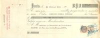 LETTRE DE CHANGE 1929 ANNUAIRE GENERAL HIPPIQUE TIMBRE FISCAL 50 C - Bills Of Exchange