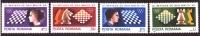 Romania 1980, Mi 3747-3750, CV 2.3 €, MNH, Chess Issue, VF - 1948-.... Republics