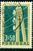 PORTUGAL - 1955 - YT 828 - CENTENAIRE DU TELEGRAPHE ELECTRIQUE AU PORTUGAL - OBLITERE - Oblitérés