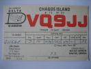 CARTE QSL CARD RADIO AMATEUR 1979 - DIEGO GARCIA CHAGOS ISLANDS - CHAGOS ARCHIPELAGOS - VQ9JJ - JIM JONES - Radio Amateur