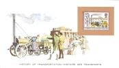 History Of Transportation Display Card - Mint GB Stamp  -   STEPHENSON´S ROCKET - Treni