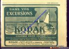 Authentic French Advertising From 1910 - Photography - KODAK - PARIS - - Vieux Papiers