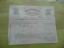 Facture . Marseille.1852. Lauzéro Et Lagrange. Marseille, Beaucaire  Et Thizy. Linge De Table. Article Du Beaujolais - Textile & Vestimentaire