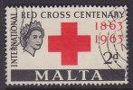 Malta 1963 Mi. 283     2 P Red Cross Rotes Kreuz Croix Rouge - Malta