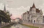 PFORZHEIM, Blick Von Der Auerbrücke, Stempel: Pforzheim 18.9.1910  Nach Gammertingen - Strassenbahnen