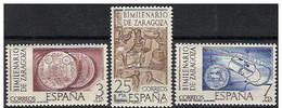 España 1976 Edifil 2319/21 Sellos ** Bimilenario De Zaragoza Moneda De Cesar Augusto, Plano De La Ciudad Romana Y Mosaic - 1931-Hoy: 2ª República - ... Juan Carlos I