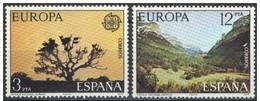 España 1977 Edifil 2413/4 Sellos ** Europa CEPT Parques Naturales Doñana Y Ordesa Completa Spain Stamps Espagne Timbre - 1931-Hoy: 2ª República - ... Juan Carlos I