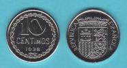 ESPAÑA   (II REPÚBLICA 1.931-1.939)   10 Céntimos   1.938 Hierro  KM#756 (Réplica) SC       T-DL-9999 - Andere