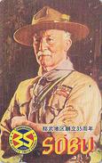Télécarte Japon / 110-011 - SCOUTISME / BADEN POWELL - SCOUTING SCOUT Japan Phonecard  - PFADFINDER Telefonkarte - 100 - Personnages