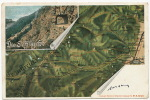 Carte Geographique Schlucht Munster, Muhlbach, Villages Edit Strasburg MR 277Timbrée - Other Municipalities