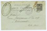 France: Carte Postal 1900 Avec Cachet Téléphone