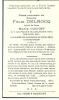 OYE PLAGE CELLES  FELIX DELROCQ  2.05.1870 - 24.07.1942 - Faire-part