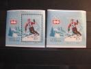 Hungary 1964 MNH BL 40 +  Imperf - Winter 1964: Innsbruck