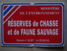 Plaque  Tole  Réserves De Chasse30 Par 20cms - Plaques Publicitaires