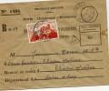 Lettre Du Service Recouvrement Taxée à 20F Au Tarif. - Storia Postale