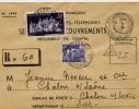 Lettre Du Service Recouvrement Taxée à 25F Au Tarif. - Storia Postale