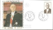 1971 Enveloppe Premier Jour HOMMAGE AU GENERAL DE GAULLE - FDC