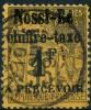 Nossi-bé (1891) Taxe N 6 (o) Signé Brun