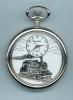 Montre Gousset TRAIN Sur Cadran Chemin D Fer Railroad 1 - Watches: Bracket