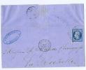 France: Yv  14A , 1858, Bordeaux A La Rochelle, Cachet BP 1, Bordeaux A Paris - Marcophilie (Lettres)