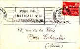 SG Société Générale Perforé Sur Gandon 1950 - Perforated Perforiert - Lettre - Perforés