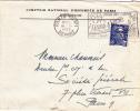 CNEP Comptoir Escompte Paris Tri N°1 Perforé Sur Gandon 1953 - Perforated Perforiert - Lettre - Perforés