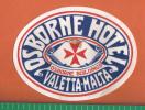 MALTA - OSBORNE HOTEL VALLETTA  MALTA   - VINTAGE BAGGAGE LABEL ( ORIGINAL ) - Hotelaufkleber