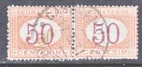 Italy J 10 X 2  (o) - 1861-78 Vittorio Emanuele II